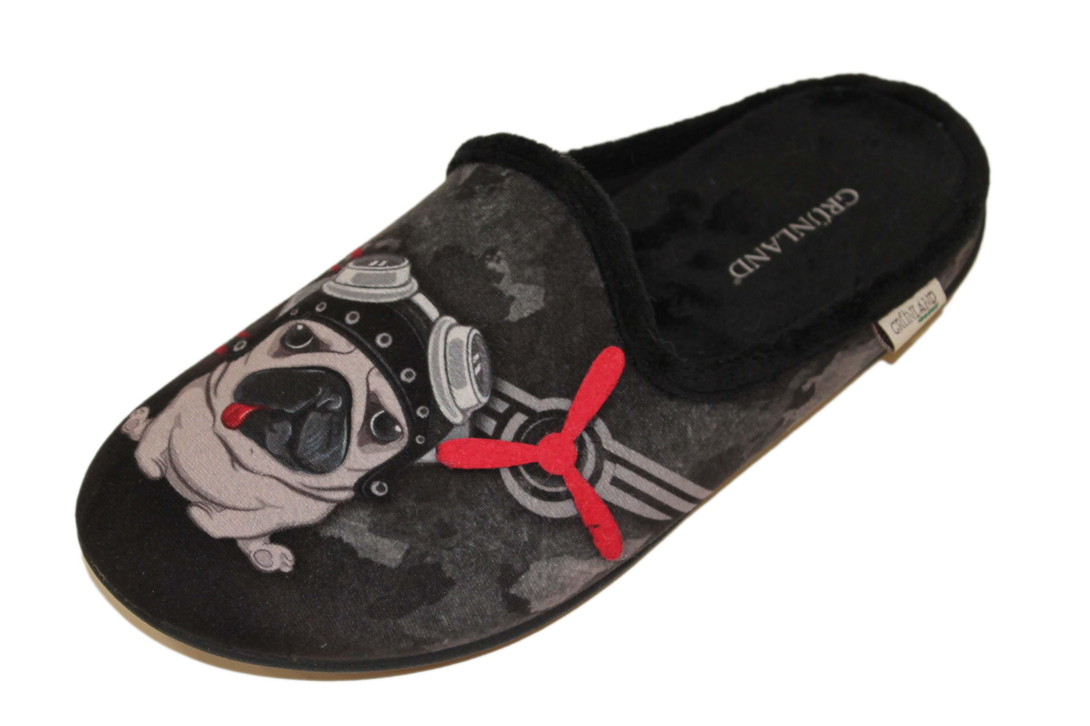 GRUNLAND LECY 1410 NERO CIABATTA UOMO BULLDOG – Parmigiani Calzature 04a3e08c91e