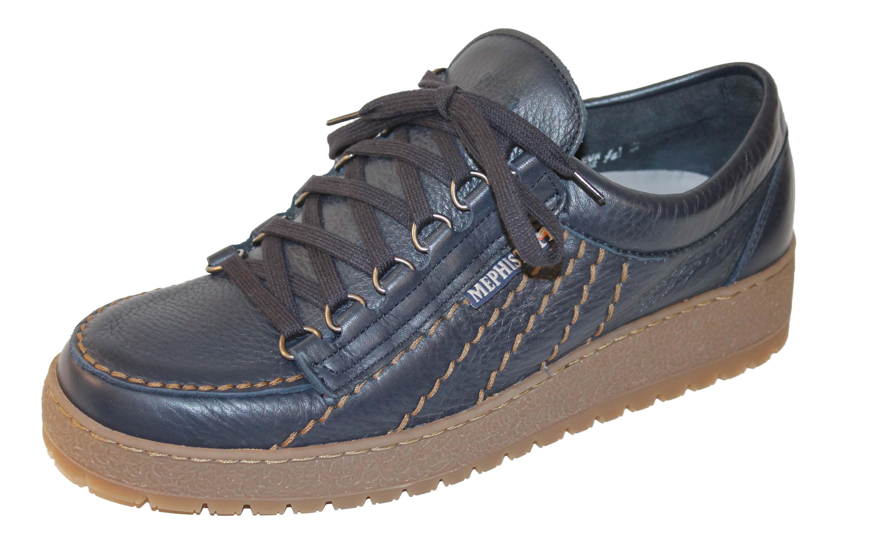 MEPHISTO RAINBOW scarpa stringata in pelle (BLU)