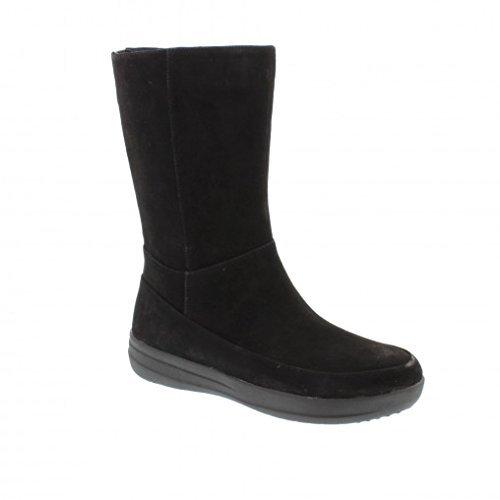 cheap for discount e95d4 afdff FITFLOP LUX GOGOBOOT BLACK stivale mezza gamba camoscio nero