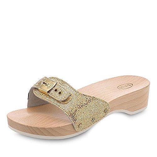 più economico 1e15c cf7cc DR.SCHOLL PESCURA heel zoccolo legno glitter platino
