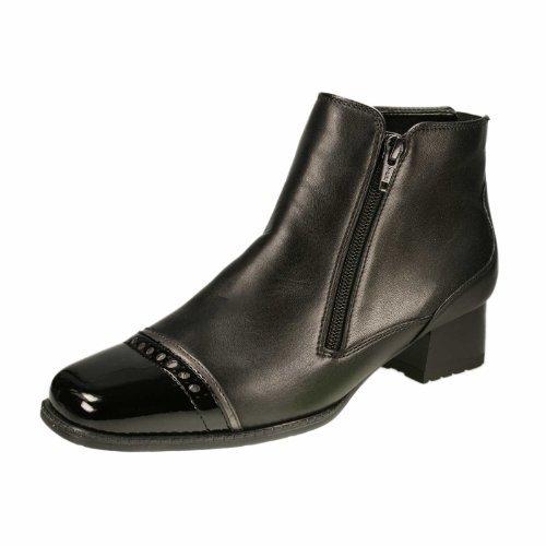 scarpe sportive dde6e 0c47c ARA GRAZ Stivaletto donna pelle e vernice nera