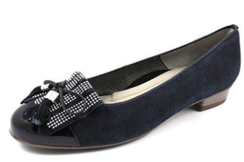 Ara bari 33727 decolte camoscio blu parmigiani calzature for Mocassini da camera